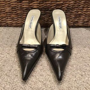 Charles David Leather Mules Pointy Toe 7B